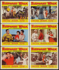 "Movie Posters:Adventure, Elephant Walk (Paramount, 1954). Lobby Cards (6) (11"" X 14"").Adventure.. ... (Total: 6 Items)"