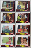 """Movie Posters:Hitchcock, Psycho (Paramount, R-1965). Lobby Card Set of 8 (11"""" X 14"""").Hitchcock.. ... (Total: 8 Items)"""