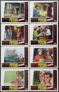 """Psycho (Paramount, R-1965). Lobby Card Set of 8 (11"""" X 14""""). Hitchcock. ... (Total: 8 Items)"""