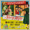 "Movie Posters:Comedy, Navy Wife (Allied Artists, 1956). Six Sheet (81"" X 81""). Comedy.. ..."