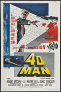 "Movie Posters:Science Fiction, 4D Man (Universal International, 1959). One Sheet (27"" X 41""). Science Fiction.. ..."