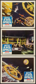 "Movie Posters:Science Fiction, Battle in Outer Space (Columbia, 1960). Lobby Cards (2) (11"" X14""). Science Fiction.. ... (Total: 3 Items)"