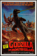 "Movie Posters:Science Fiction, Godzilla vs. Gigan (Downtown Distribution, 1977). One Sheet (27"" X 41""). Science Fiction. Released in U.S. as Godzilla on ..."