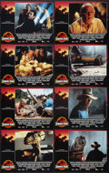 "Movie Posters:Science Fiction, Jurassic Park (Universal, 1993). International Lobby Card Set of 8(11"" X 14""). Science Fiction.. ... (Total: 8 Items)"