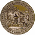 Expositions and Fairs: , 1893 Worlds Columbian Exposition Chicago Eglit-54 PF63, This is achocolate brown Proof-63 bronze medallion issued to commem...