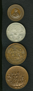 Expositions and Fairs: , Exposition and Commemorative Medal Group Lot. An outstanding group of four medals featuring: a piece issued for the World Co... (Total: 4 medals)