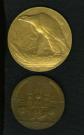 Expositions and Fairs: , 1909 Hudson-Fulton Presentation Medal and U.S. 1926 Sesqui-Centennial Exposition Medal Pair. Two superlative medals: a rare ... (Total: 2 Coins)