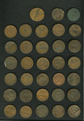 Counterstamps: , Counterstamped U.S. Large Cent Group Lot, Uncertified. A large unattributed lot of large cents counterstamped with names or ... (Total: 33 tokens)