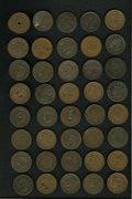 Counterstamps: , Counterstamped U.S. Large Cent Group Lot, Uncertified. An unattributed group lot of 40 miscellaneous counterstamped U.S. lar... (Total: 40 tokens)
