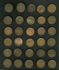 Counterstamps: , Counterstamped U.S. Large Cent Group Lot, Uncertified. A lot of 30 large cents, each counterstamped with various names. Date... (Total: 30 tokens)