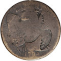 Counterstamps: , 1794 US Large Cent Counterstamped w/ Large Eagle, Fine 15, an uncertified and unlisted (not in Brunk or Rulau) counterstamp ...