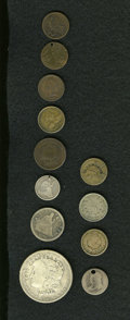 Counterstamps: , Counterstamped Coin Group Lot. Consists of 12 coins that have been either counterstamped or engraved. Some of the names incl... (Total: 12 tokens)