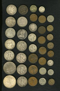 Counterstamps: , Counterstamped U.S. Type Coins, Uncertified. Consists of 38 miscellaneous U.S. coins with various types of counterstamps. In... (Total: 38 tokens)