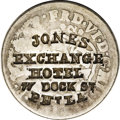Counterstamps: , (1849-50) Jones Exchange Hotel, Philadelphia, PA, Miller Pa-239f, Uncertified. This exciting counterstamped 1748 Pillar two ...