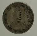 Counterstamps: , L.W. Hunt, Augusta, Me, Counterstamped Ecuador 1855 4 Reales. This scarce counterstamp is the same piece listed in the Rulau...