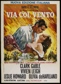 "Movie Posters:Academy Award Winner, Gone with the Wind (MGM, R-1968). Italian 2 - Folio (39"" X 55"").Academy Award Winner. ..."