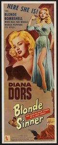 "Movie Posters:Bad Girl, Blonde Sinner (Allied Artists, 1956). Insert (14"" X 36""). Bad Girl...."