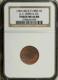 Civil War Merchants: , (1861-65) G.E. Gerts & Co. Brushes Factory, Chicago, IL,Fuld-IL-150Z-1A, R.3, MS64 Red and Brown NGC. Copper. A niceexampl...