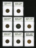 Civil War Merchants: , 1863 S.J.M. Loomis, Kendallville, IN--Scratched, Cleaned--ANACS, AUDetails, Net XF40, Fuld-IN500N-4a, R.8; 1863 Louis Str... (Total: 8tokens)