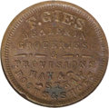 Civil War Merchants: , 1863 F. Gies Grocer, Detroit, MI, Fuld-MI225AG-3A, R.8, MS63 BrownNGC. An extremely scarce and conditionally elusive token,...