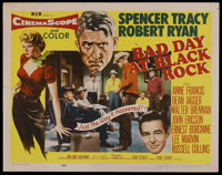"""Bad Day at Black Rock (MGM, 1955). Half Sheet (22"""" X 28"""") Style A. Thriller"""