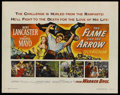 "Movie Posters:Adventure, The Flame and the Arrow (Warner Brothers, 1950). Half Sheet (22"" X28""). Adventure. ..."