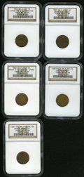 Civil War Merchants: , Civil War Merchant Group. Consists of: an (1861-65) Jos. McBurney,Albany, NY, Fuld-NY-10C-1a, R.3, MS63 Brown NGC; 1863 S... (Total:5 tokens)