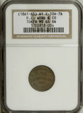 Civil War Merchants: , Undated D.L. Wing & Co., Albany, NY, MS64 Brown NGC,Fuld-NY10H-7a, R.3, a shimmering piece with traces of orange-goldnear ... (Total: 3 tokens)