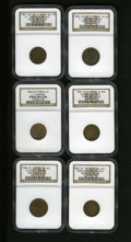 Civil War Merchants: , New York Civil War Merchant Lot. Consists of: 1863 Atlantic Garden,New York, NY, Fuld-NY-630A-1a, R.2, MS64 Brown NGC; 18... (Total: 6tokens)