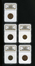 Civil War Merchants: , 1863 M.S. Brown, New York, NY, MS65 Brown NGC, Fuld-NY630N-3a, R.3,a beautiful sea-green Gem that retains some mint red; ... (Total: 5tokens)