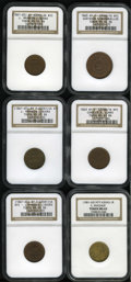 Civil War Merchants: , New York Civil War Merchants Group Lot. All from New York, NY.Consists of: an 1863 Gustavus Lindenmueller, Fuld-NY-630AQ-...(Total: 6 tokens)
