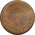 Civil War Merchants: , (1861-65) J. Mahnken Liquors, Fuld-NY-630AT-1a, R.2, MS65 Red/BrownNGC. Copper. An evenly toned example of this New York me...