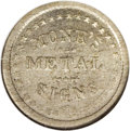 Civil War Merchants: , 1863 Monk's Metal Signs, Fuld-NY-630BB-4c, R.8, MS63 NGC. Nickel. Ascarce variety within the series from this prolific issu...