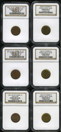 Civil War Merchants: , New York Civil War Merchants Group Lot. All from New York, NY.Consists of: an 1863 Monk's Metal Signs, Fuld-NY-630BB-7b, ...(Total: 6 tokens)
