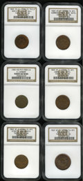 Civil War Merchants: , New York and Pennsylvania Civil War Store Card Lot. All certifiedby NGC. An 1863 Jones Wood Hotel/I. Sommers, New York, N... (Total:6 tokens)