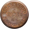 Civil War Merchants: , 1863 I. Sommers Jones Wood Hotel, Fuld-NY-630BR-1a, R.2, MS66 BrownNGC. Copper. An exceptional token with great color that ...