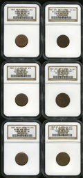 Civil War Merchants: , Civil War Store Card Lot. All from New York, NY. Consists of: an(1861-65) Willard & Jacksons Oyster House, R.2, Fuld-NY-6...(Total: 6 tokens)