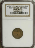 Civil War Merchants: , 1863 Oliver Boutwell, Miller, Fuld-NY-890B-26b, R.6, MS65 NGC.Brass. A medium-scarce Civil War token from this prolific iss...