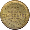 Civil War Merchants: , 1863 H.H. Robinson, Grocer, New London, Butler County, OH,Fuld-OH-620A-6b, R.7, MS64 NGC. Brass. A well-struck and tonedex...