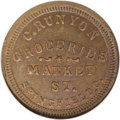 Civil War Merchants: , 1863 C. Runyon, Grocer, Springfield, OH, Fuld-OH-830G-1a, R.8, MS63Brown NGC. A scarce Civil War token, with semiglossy fie...