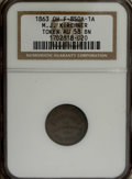 Civil War Merchants: , 1863 M.J. Kirchner, Tiffin, OH, AU58 NGC. Fuld-OH850A-1a, R.5. Awell struck chocolate-brown example from this elusive merch...