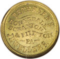 Civil War Merchants: , 1863 Petersen's Jewellers, Honesdale, PA, Fuld-PA-464A-1b, R.6,MS64 NGC. This and the following lots offered are part of a ...