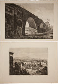 Antiques:Posters & Prints, Luigi Rossini (1790-1857). Six Architectural Views of Rome...(Total: 6 Items)