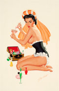 Pin-up and Glamour Art, BILL RANDALL (American, b. 1911). Poison. Gouache on board.16 x 11.5 in.. Signed lower right. ...