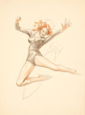 Pin-up and Glamour Art, ALBERTO VARGAS (American, 1896-1982). Ice Skater study.Pastel and pencil on paper. 13.25 x 9.5 in.. Not signed. ...