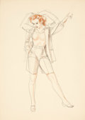 Pin-up and Glamour Art, ALBERTO VARGAS (American, 1896-1982). Blouse study. Pastel,watercolor, and pencil on paper. 13 x 9.5 in.. Not signed. ...