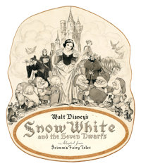GUSTAF TENGGREN (American, 1896-1970) Snow White and the Seven Dwarfs, original promotional art, 1937