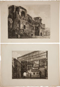 Antiques:Posters & Prints, Luigi Rossini (1790-1857). Six Copper-Engraved Architectural Viewsof Rome,... (Total: 6 Items)