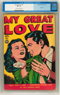 Golden Age (1938-1955):Romance, My Great Love #4 (Fox Features Syndicate, 1950) CGC FN+ 6.5 Creamto off-white pages....