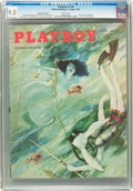 Magazines:Vintage, Playboy V2#8 (HMH Publishing, 1955) CGC VF/NM 9.0 White pages....